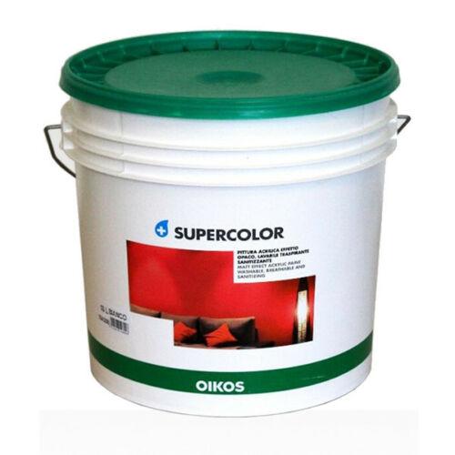 Pittura lavabile colorata per interni supercolor oikos lt ...